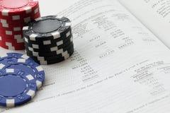 Investeerder-gokker Stock Foto