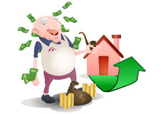 investement auf Eigentum Stockbild