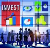 Investera för ekonomiplanläggningen för analys det finansiella begreppet Royaltyfri Bild