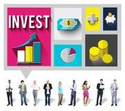 Investera för ekonomiplanläggningen för analys det finansiella begreppet Arkivbild