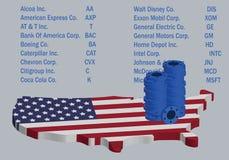 Investera i amerikanska blåa Chip Stocks stock illustrationer