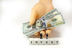 Investera i din framtid! Arkivbild