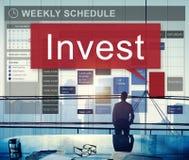 Investera tillgångar som packar ihop finansiellt vinstbegrepp för ekonomi Royaltyfria Foton