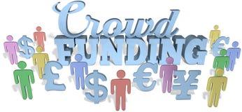 Investeren de Crowdfundings sociale mensen royalty-vrije illustratie