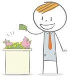 Investering royaltyfri illustrationer