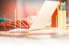 Investering, boekhoudings en financiënconcept Royalty-vrije Stock Afbeelding