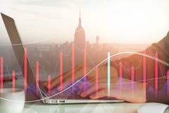 Investering, boekhoudings en handelsconcept Stock Foto's