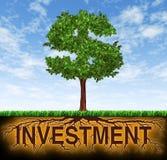 Investering en de financiële groei Royalty-vrije Stock Afbeelding