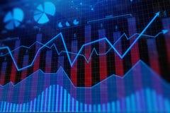 Investering en financiënachtergrond Royalty-vrije Stock Afbeeldingen