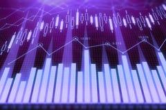 Investering en handelsachtergrond Royalty-vrije Stock Afbeelding