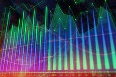 investering Financiën en handelsbehang Stock Foto