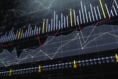 Investering, handel en monitorconcept vector illustratie