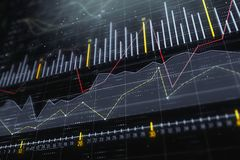 Investering-, handel- och bildskärmbegrepp vektor illustrationer