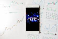 Investering in het persoonlijke Fonds van de pensioenverzekering, concept Voorziening van welzijn in pensionering royalty-vrije stock foto