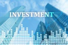 Investering ROI, finansmarknadbegrepp Royaltyfria Foton