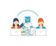 Investering, strategie planning, financiën, projectleiding, analyticsconcept van marktgegevens vector illustratie