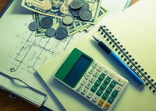Investering voor bouw met grensbegroting Royalty-vrije Stock Afbeelding