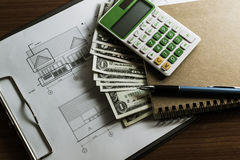 Investering voor bouw met grensbegroting Stock Fotografie