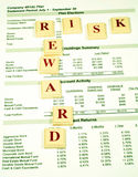 investeringen belönar risker Arkivfoton