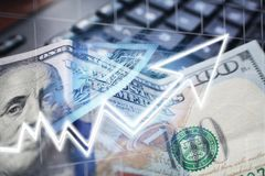 Investeringen die in de Markthoogte groeien - kwaliteit stock afbeelding