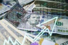Investeringen die door een Oplopende markt stijgen royalty-vrije stock fotografie