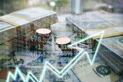 Investeringen die in een Oplopende markthoogte groeien - kwaliteit royalty-vrije stock foto's