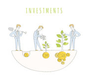 Investeringen kliver lineart Royaltyfri Fotografi