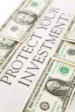 investeringen skyddar ditt Royaltyfri Bild