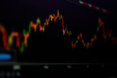 investeringhandelgraf Arkivbild