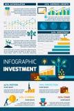 Investeringlägenhetfärg Infographic vektor illustrationer