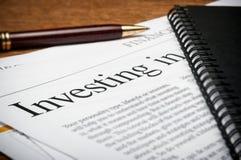 Investeringplanläggning Arkivfoto