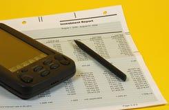 investeringrapport arkivfoton