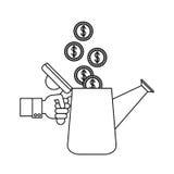 Investeringsideeën en winstontwerp Royalty-vrije Stock Foto's