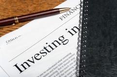 Investeringsplan Arkivbilder
