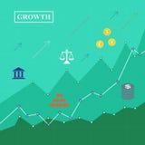 Investeringtillväxtdiagram Arkivbild