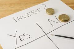 Investieren Sie? lizenzfreies stockfoto