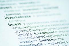 Investieren Sie Lizenzfreies Stockfoto
