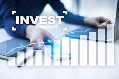 Investieren Sie Anlagenrendite Conceptual Image Technologie- und Geschäftskonzept Stockbild