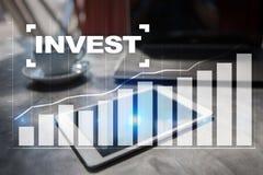 Investieren Sie Anlagenrendite Conceptual Image Technologie- und Geschäftskonzept Stockbilder
