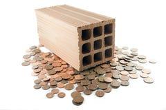 Investieren Sie in den Ziegelsteinen und im Mörser Lizenzfreie Stockfotografie