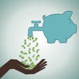 Investieren Sie Ihr Speichergeld lizenzfreie abbildung