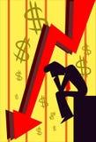 Investieren Sie klug und kämpfen Sie die Rezession Stockfoto