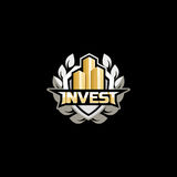 Investieren Sie Logokonzept Lizenzfreies Stockfoto
