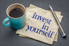 Investieren Sie in selbst Rat Stockfoto