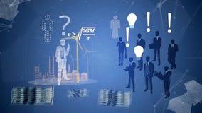 Investierung in den guten Ideen Investierung in den guten Ideen, Starts Gute Idee oder Innovation können Prozente des Marktanteil lizenzfreie abbildung