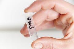 Investigação científica da química do ADN Foto de Stock
