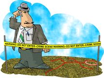 Investigação do crime Fotografia de Stock Royalty Free