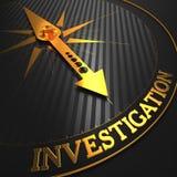 Investigação. Fundo da informação. Fotos de Stock Royalty Free