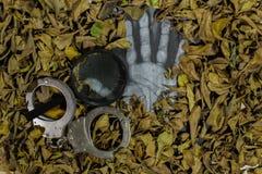 A investigação penal, descobre caixas foto de stock royalty free