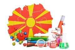 Investigación científica en el concepto de Macedonia, representación 3D Imagenes de archivo